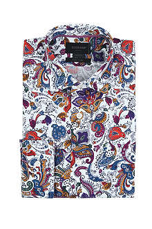 DUCHAMP Paisley-print tailored-fit single-cuff cotton shirt