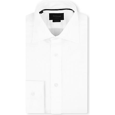 DUCHAMP Mini herringbone shirt (White