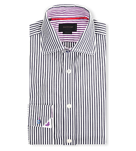 DUCHAMP Coloured Bengal shirt (Sloe