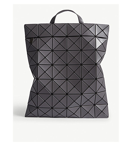 BAO BAO ISSEY MIYAKE Lucent flat pack backpack (Charcoal grey