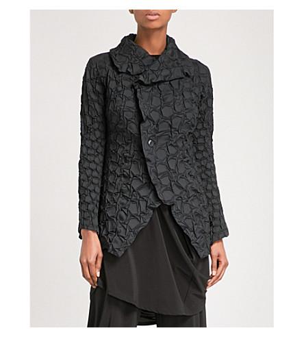 ISSEY MIYAKE Crack pleated jacket (Black