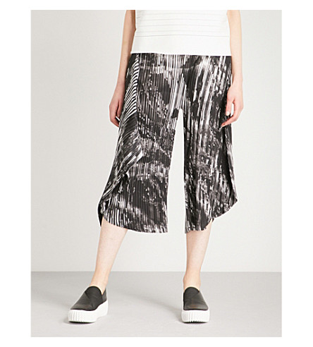 ISSEY MIYAKE Double Stream pleated trousers (Grey+multi