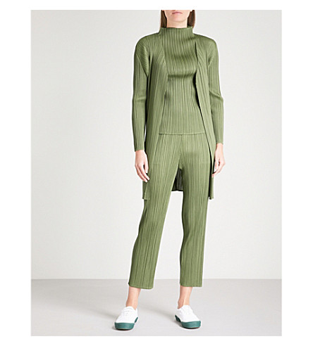 PLEATS PLEASE ISSEY MIYAKE Basics pleated coat (Khaki