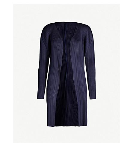PLEATS PLEASE ISSEY MIYAKE Basics pleated coat (Navy