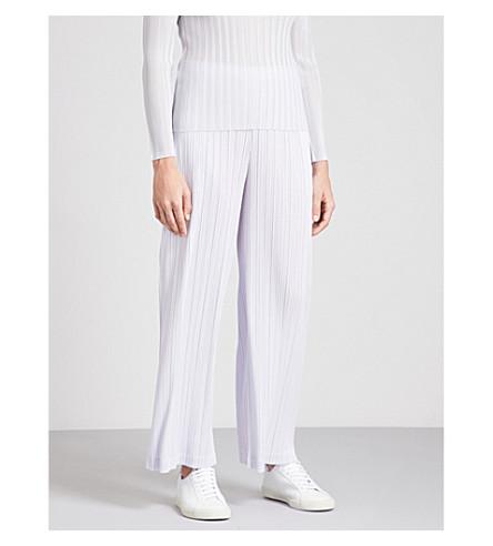 PLEATS PLEASE ISSEY MIYAKE Wide-leg pleated trousers (Ice+grey