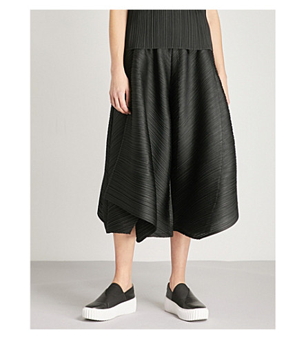 PLEATS PLEASE ISSEY MIYAKE Polygon wide-leg pleated trousers (Black
