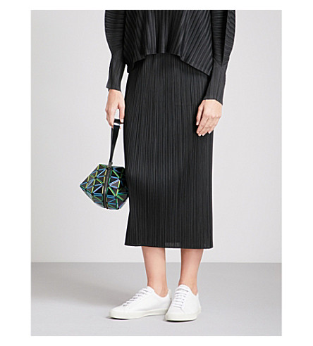 PLEATS PLEASE ISSEY MIYAKE Basics high-rise pleated skirt (Black