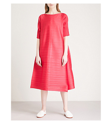 PLEATS PLEASE ISSEY MIYAKE Edgy Bounce pleated dress (Pink
