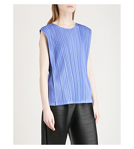 PLEATS PLEASE ISSEY MIYAKE Mellow pleated top (Sky+blue
