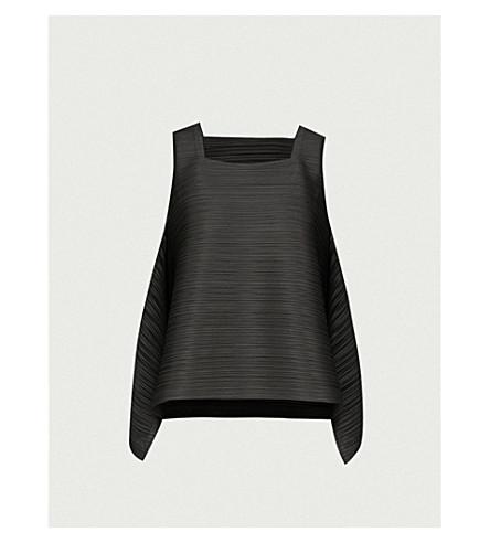 PLEATS PLEASE ISSEY MIYAKE Asymmetric pleated top (Black