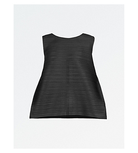 PLEATS PLEASE ISSEY MIYAKE Edgy Bounce pleated top (Black
