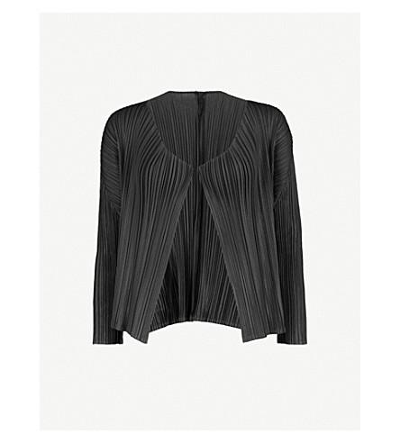 PLEATS PLEASE ISSEY MIYAKE Pleated bolero jacket (Black