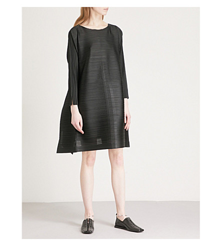 PLEATS PLEASE ISSEY MIYAKE Edgy Bounce pleated tunic (Black