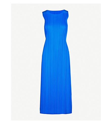 PLEATS PLEASE ISSEY MIYAKE Basics pleated midi dress (Blue
