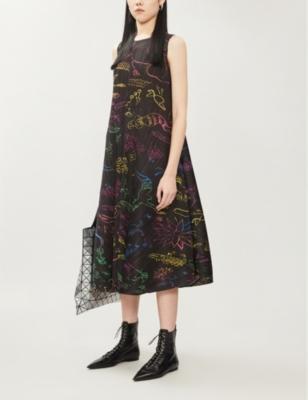 In Her Dream pleated woven midi dress