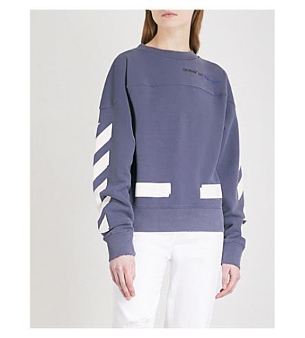 OFF-WHITE C/O VIRGIL ABLOH Champion cotton-blend sweatshirt (Dusty+blue+white+-+man