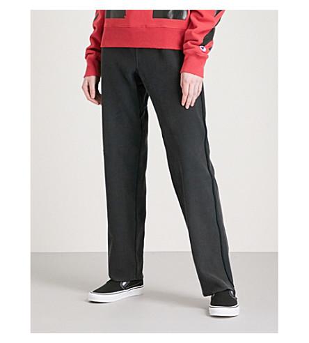 OFF-WHITE C/O VIRGIL ABLOH Champion cotton-blend jogging bottoms (Black+black+-+man