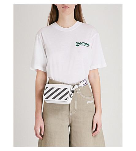 OFF-WHITE C/O VIRGIL ABLOH Poppy-print jersey T-shirt (White+multico