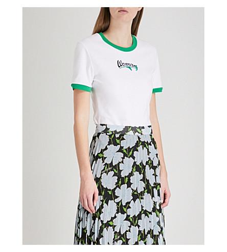 OFF-WHITE C/O VIRGIL ABLOH Woman jersey T-shirt (White+green