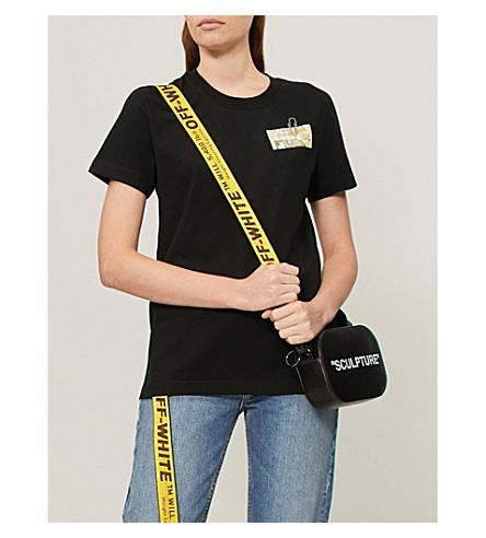 OFF-WHITE C/O VIRGIL ABLOH 字母平纹针织棉 T 恤 (黑色 + 黄色