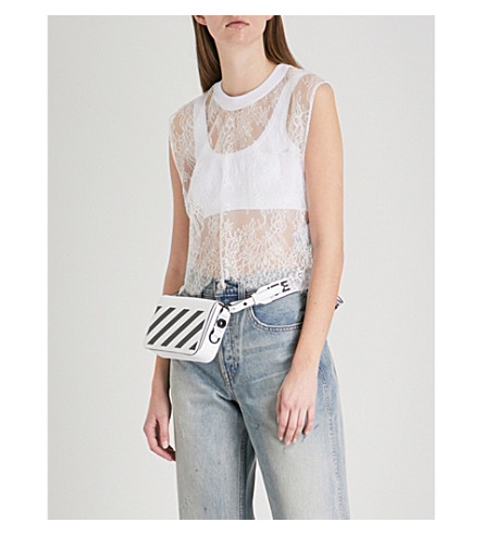 OFF-WHITE C/O VIRGIL ABLOH Semi-sheer floral-lace T-shirt (White+white