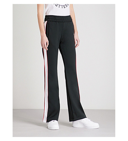 OFF-WHITE C/O VIRGIL ABLOH Contrast-tape jersey jogging bottoms (Black