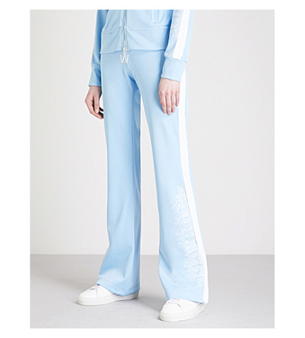 OFF-WHITE C/O VIRGIL ABLOH Woman mid-rise cotton-blend track trousers (Blue