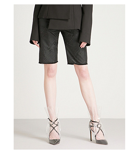 OFF-WHITE C/O VIRGIL ABLOH Belted woven shorts (Black