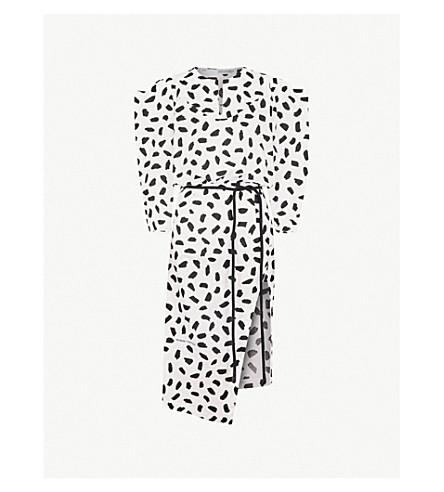 OFF-WHITE C/O VIRGIL ABLOH Monochrome cotton midi dress (White