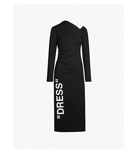 OFF-WHITE C/O VIRGIL ABLOH 单肩梭织连衣裙 (黑 + 白