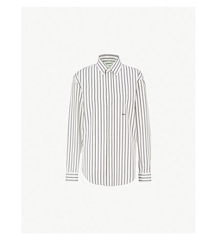 OFF-WHITE C/O VIRGIL ABLOH 条纹棉府绸衬衫 (黑色