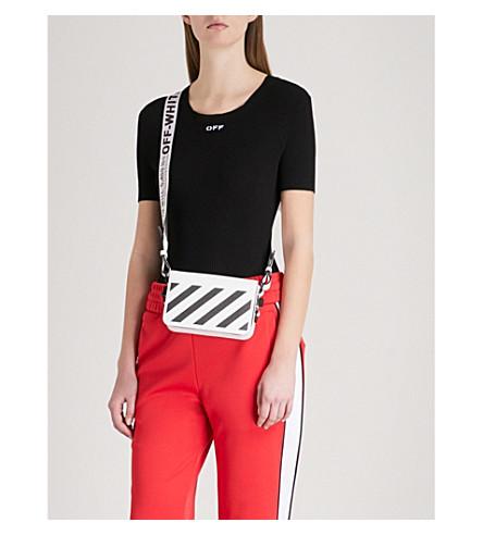 OFF-WHITE C/O VIRGIL ABLOH Crewneck stretch-knit T-shirt (Black+white