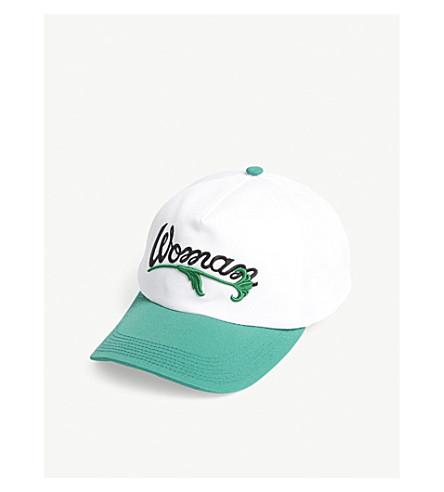 OFF-WHITE C/O VIRGIL ABLOH Woman cotton baseball cap (White+black