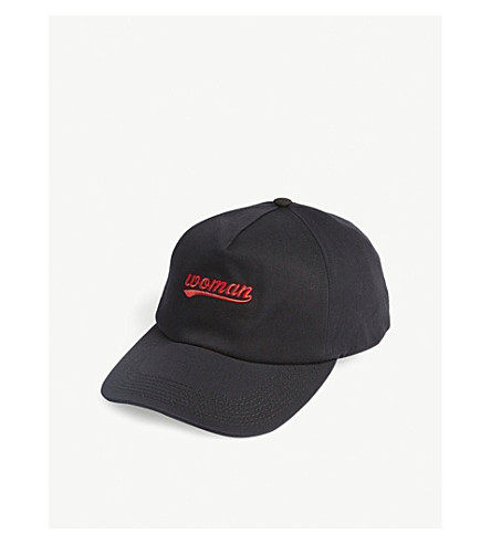 OFF-WHITE C/O VIRGIL ABLOH Woman baseball cap (Black+red