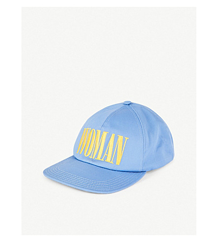 OFF-WHITE C/O VIRGIL ABLOH Woman-embroidered cotton snapback cap (Blue