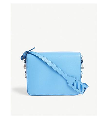OFF-WHITE C/O VIRGIL ABLOH Leather shoulder bag (Light+blue