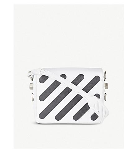 OFF-WHITE C/O VIRGIL ABLOH Diagonal-stripe leather shoulder bag (White