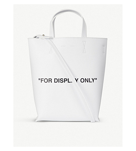 OFF-WHITE C/O VIRGIL ABLOH For Display Only grained leather tote (White