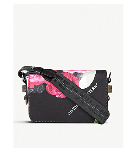 OFF-WHITE C/O VIRGIL ABLOH Floral-print leather cross-body bag (Multi