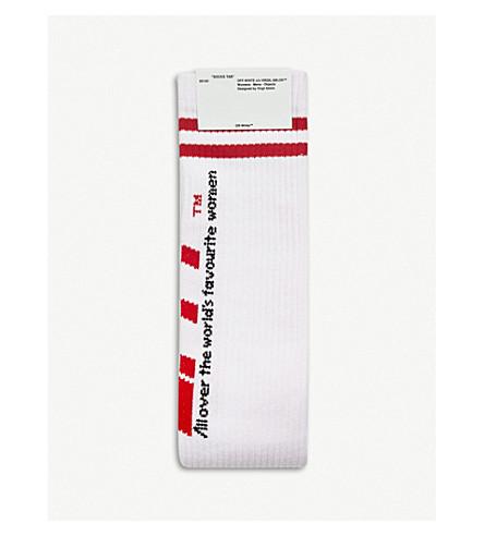 OFF-WHITE C/O VIRGIL ABLOH OFFF ribbed cotton-blend socks (White
