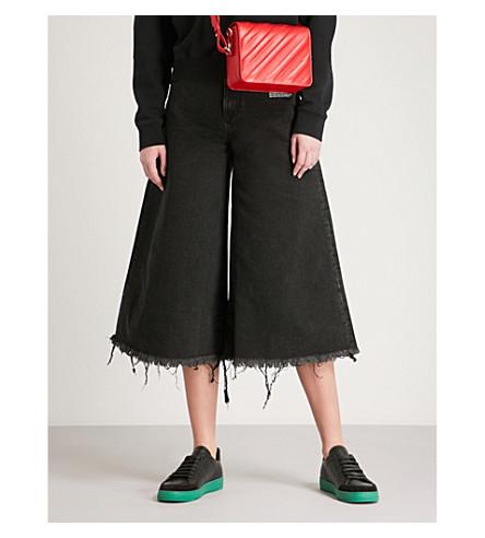 OFF-WHITE C/O VIRGIL ABLOH Oversized wide high-rise cropped jeans (Vintage+black