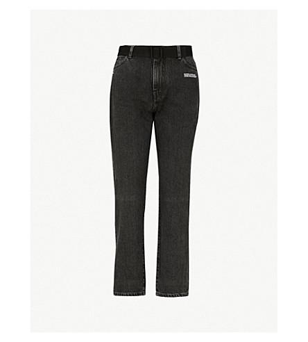 OFF-WHITE C/O VIRGIL ABLOH Strass-点缀休闲版型中腰牛仔裤 (复古 + 黑色)