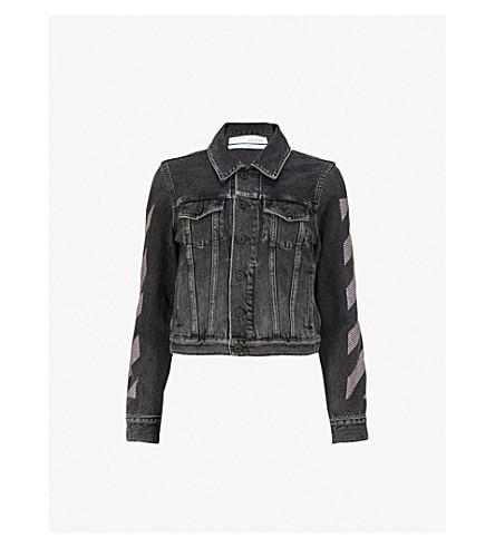 OFF-WHITE C/O VIRGIL ABLOH Strass-embellished denim jacket (Vintage+black