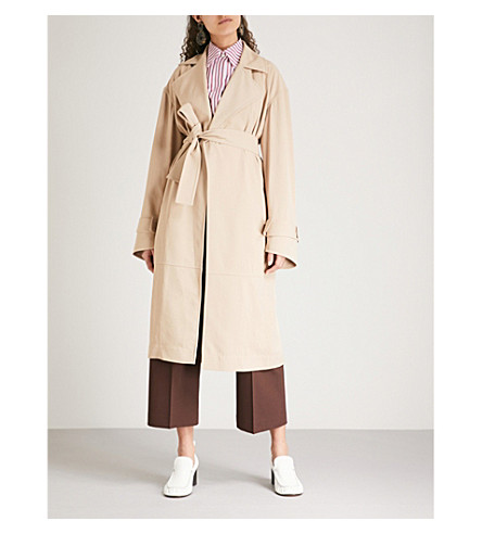 VICTORIA BECKHAM Belted woven-twill trench coat (Beige