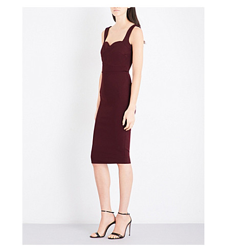 VICTORIA BECKHAM Cami fitted stretch-knit dress (Wine