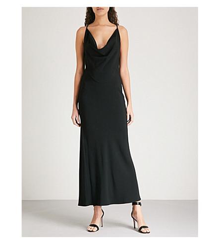 VICTORIA BECKHAM罩颈绉裙 (黑色