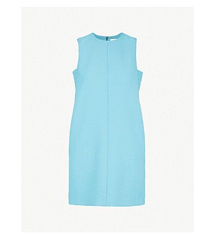 VICTORIA VICTORIA BECKHAM Sleeveless crepe mini dress (Turquoise
