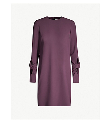 VICTORIA VICTORIA BECKHAM Cut-out sleeve crepe dress (Nightshade