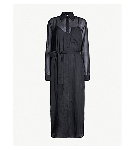 VICTORIA VICTORIA BECKHAM Collared voile dress (Black