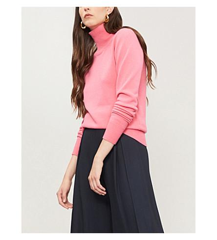 VICTORIA BECKHAM Waffle-knit stretch-cashmere jumper (Bubblegum
